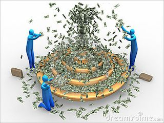 Money fountain